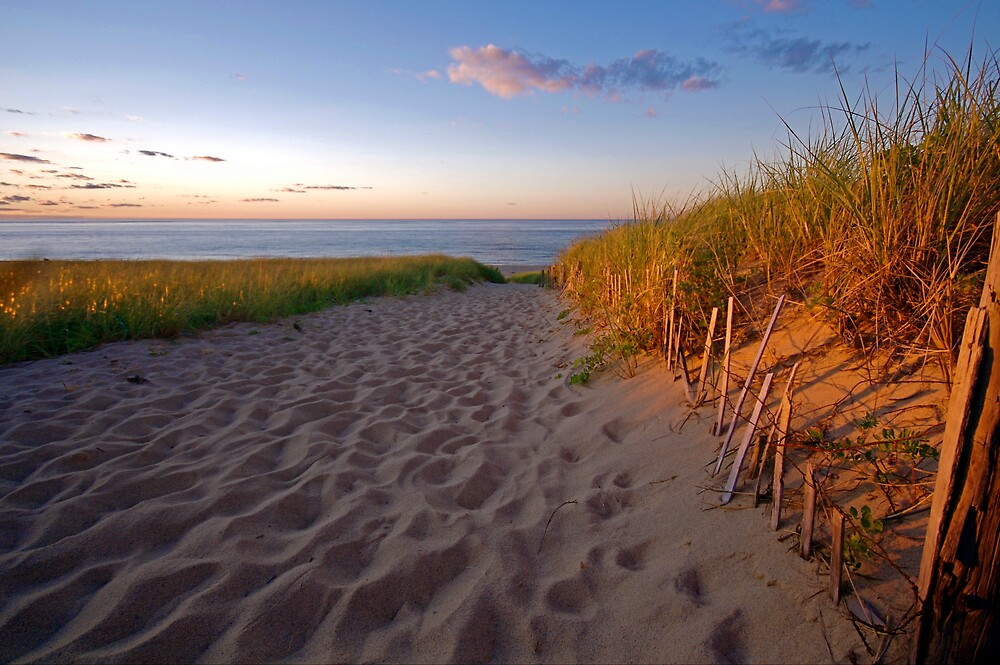 Cape Cod Beach at Sunset (Race Point, Provincetown) by Christopher Seufert
