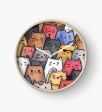 Reloj Gatos de acuarela