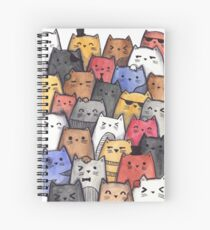 Watercolor Cats Spiral Notebook