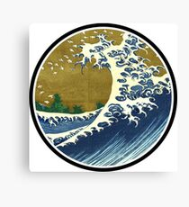 Japanese surf wave Canvas Print