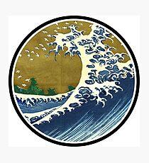 Japanese surf wave Photographic Print