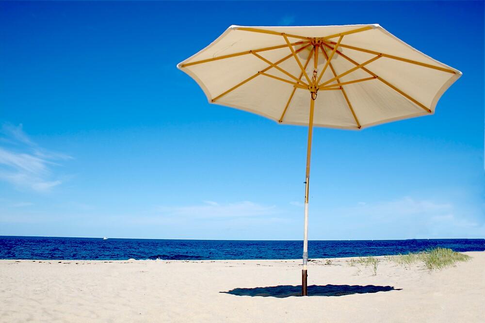 Cape Cod Beach Umbrella (Race Point, Provincetown) by Christopher Seufert