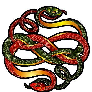 Snake knotwork by Elmarie