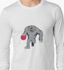Grizzly Bear Angry Dribbling Basketball Isolated T-Shirt
