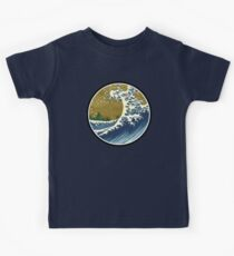 Japanese surf wave Kids Clothes