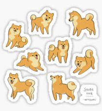 Playful Shiba Inu Sketches Sticker