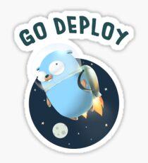 Golang Gopher Go Deploy Sticker