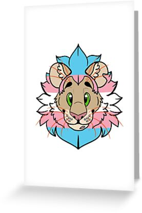 Trans pride lion trans man greeting cards by nyxthewolf redbubble trans pride lion trans man by nyxthewolf m4hsunfo