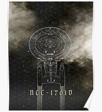 Starship NCC 1701D Poster