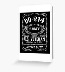 US ARMY DD-214 Greeting Card