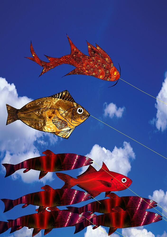 Flying Fish blue sky 5000  x  7100 by Roydon Johnson