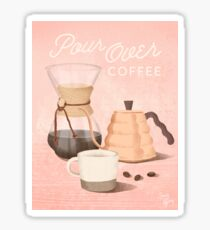 Pour Over Coffee Sticker