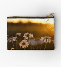 White Flowers and sunset Studio Pouch