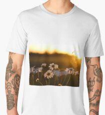 White Flowers and sunset Men's Premium T-Shirt
