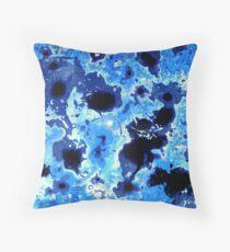 Splash of Blue - Abstract Floor Pillow
