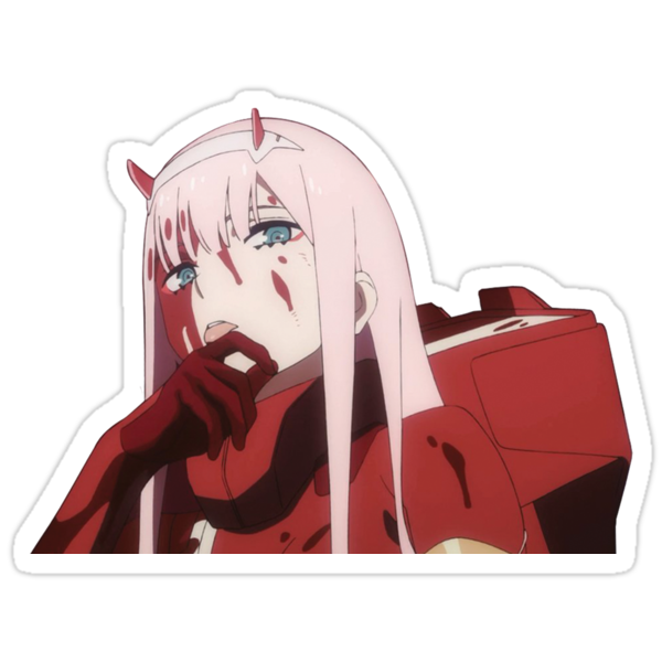 zero two peek sticker darling in the franxx stickers by
