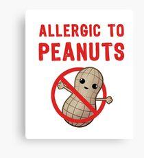 Allergic to Peanuts Canvas Print