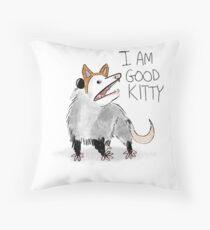 """I AM GOOD KITTY"" Design Throw Pillow"