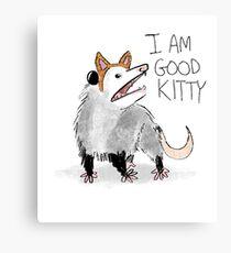 """I AM GOOD KITTY"" Design Canvas Print"