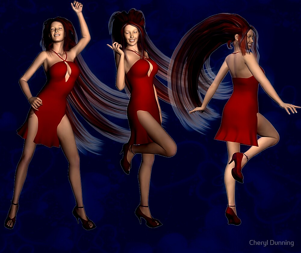 the dancers by Cheryl Dunning