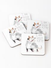 """I AM GOOD KITTY"" Design Coasters"