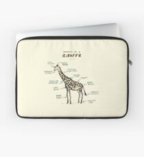 Anatomy of a Giraffe Laptop Sleeve