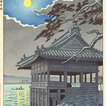 Takeji Asano - Moonlight in Wakanoura, Wakayama by CoppedFlack