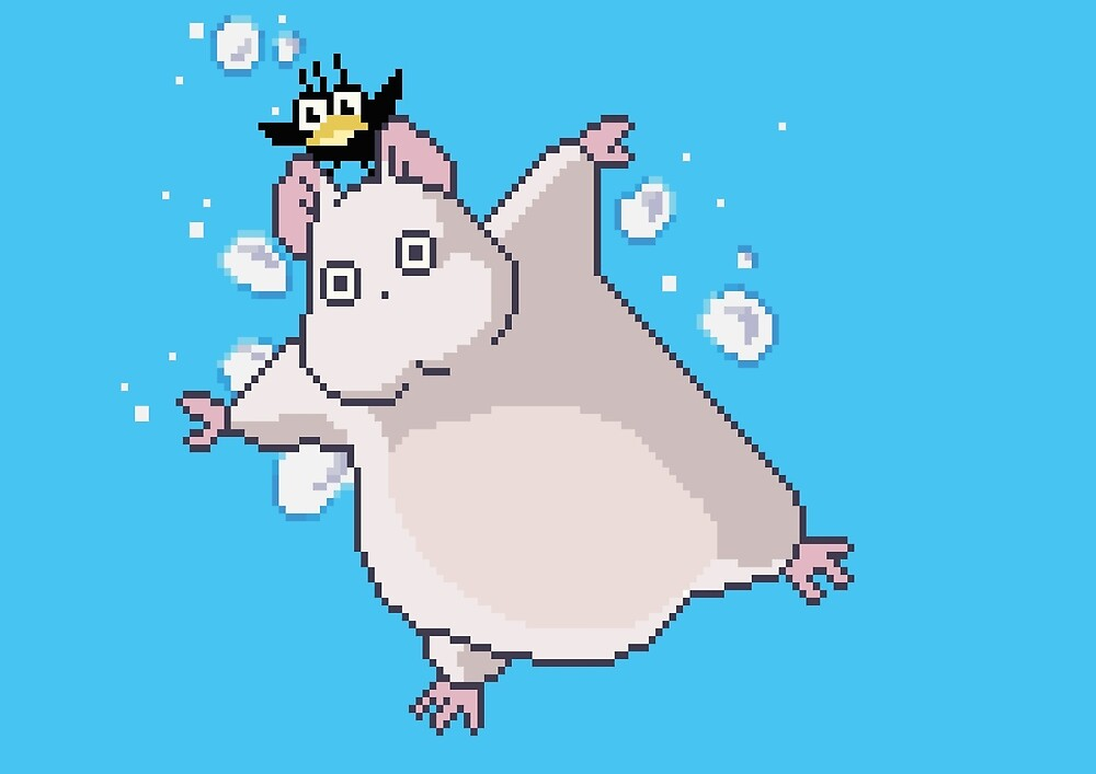 Boh and Bird 8bit by ZoeTwoDots