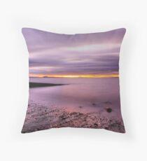 Cockenzie Beach 1- Tonemapped Throw Pillow