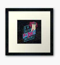 Eat. Sleep. WIGGLE. Repeat. - Monster Hunter Design Framed Print