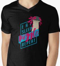 Eat. Sleep. WIGGLE. Repeat. - Monster Hunter Design Men's V-Neck T-Shirt