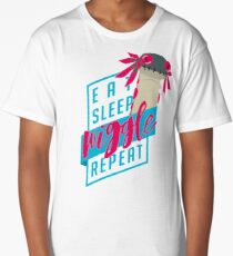 Eat. Sleep. WIGGLE. Repeat. - Monster Hunter Design Long T-Shirt