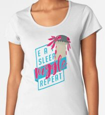 Eat. Sleep. WIGGLE. Repeat. - Monster Hunter Design Women's Premium T-Shirt