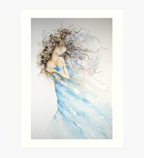 luccentezza di luna, mosso del mare © 2009 patricia vannucci  Art Print