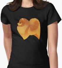 Geometric dogs - Pomeranian Women's Fitted T-Shirt