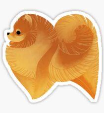 Geometric dogs - Pomeranian Sticker