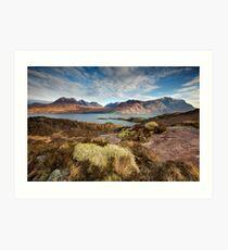 The mountains of Upper Loch Torridon Art Print