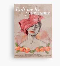 Lámina metálica Call me by your name (Luca Guadagnino, 2017)