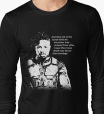 Erik Killmonger 'Bury Me' Memorable Famous Quote Long Sleeve T-Shirt