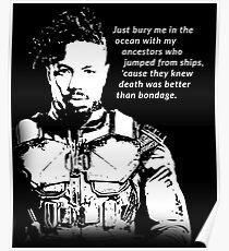 Erik Killmonger 'Bury Me' Memorable Famous Quote Poster