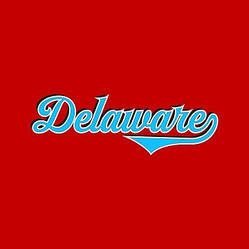 Delaware State USA - Vintage Sports Typography by Urban-Zone