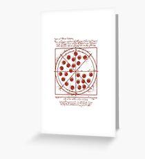 Vitruvian Pizza Greeting Card