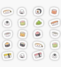 Happy kawaii sushi pattern Sticker