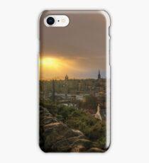Stormy Sunset from Calton Hill, Edinburgh iPhone Case/Skin