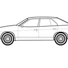 Austin Princess Outline Drawing by RJWautographics