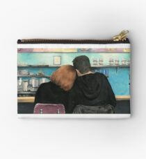Mulder and Scully in the RM9sbG93ZXjz Diner X Files Original Painting Studio Pouch