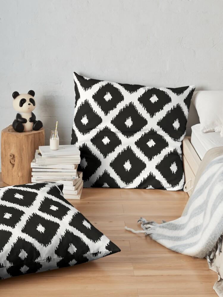 Alternate view of Black and White decor Floor Pillow