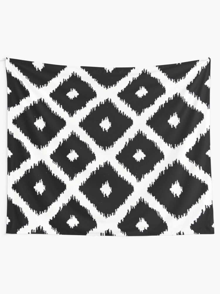 Alternate view of Black and White decor Tapestry