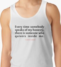 "Every time somebody...""Albert Camus"" Inspirational Quote Tank Top"