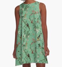 Monkey World Green A-Line Dress